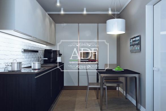Кухня в современном стиле ул. Ленинградская 2