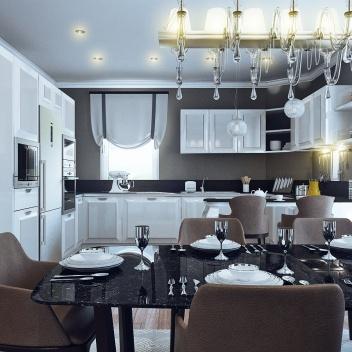 Кухня-столовая на Фрунзе